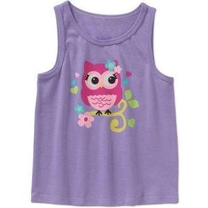 Garanimals Owl Tank Top Purple Size 4T